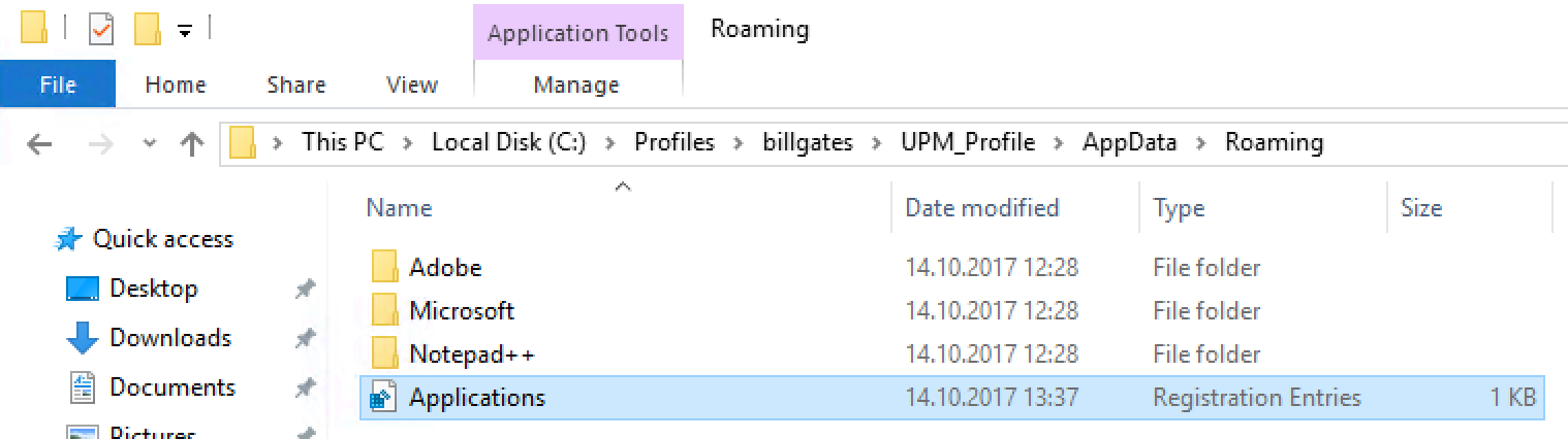 User File Type Association Roaming on Server 2016 with